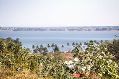View over the bay of Maputo Royalty Free Stock Photo