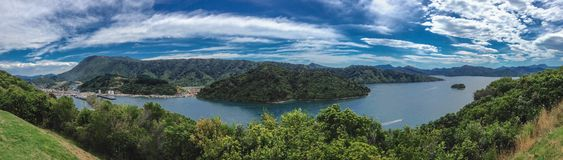 View over the bay of Picton Harbour, South Island of New Zealand royalty free stock photos