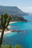 View over beautiful coast of calabria fronting the royalty free stock photos