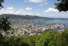 View over Bergen in Norway from Fløyen Royalty Free Stock Photo