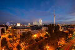 View over Berlin Alexanderplatz Stock Photo