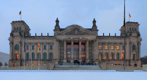 Reichstag in the twilight Royalty Free Stock Image