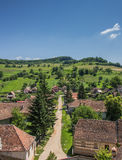 View over Biertan from the tower of the fortified church Stock Photography