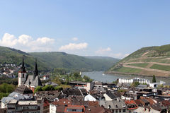 The view over Bingen, Germany Royalty Free Stock Image