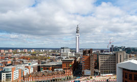 View Over Birmingham with BT Tower Royalty Free Stock Photography