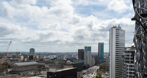 View Over Birmingham England. Cloudscape Cityscape Photography Royalty Free Stock Photos