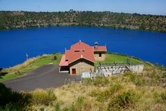 Blue Lake, Mount Gambier. View over Blue Lake, Mount Gambier, South Australia Royalty Free Stock Photos