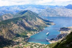 The view over Boca Bay. Overlooking the beautiful bay near the town of Kotor, called Boca Bay, in Montenegro Stock Photography