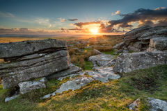 View over Bodmin Moor in Cornwall Stock Photos