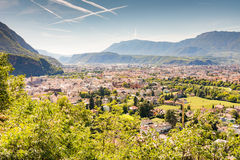 View over Bolzano Royalty Free Stock Photos
