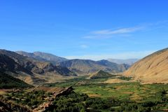 View over the bouguemez valley in morocco Stock Images