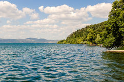 View over Bracciano Lake, Italy Royalty Free Stock Images