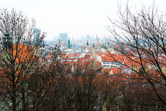 View over the Bratislava City from the castle Stock Photo