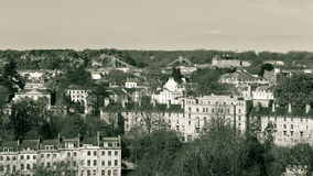 View Over Bristol With Suspension Bridge In Background A England royalty free stock image