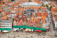 View over Bruges historical old town Stock Images