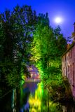 View over Brugge canal, Belgium. Royalty Free Stock Photography