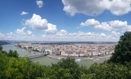 View over Budapest royalty free stock photography
