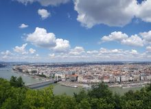 View over Budapest stock image