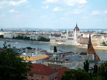View over Budapest and Donau Royalty Free Stock Photo