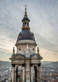 The view over Budapest, Hungary, from Saint Istvan's Basilica vi Royalty Free Stock Photo