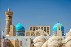 Bukhara downtown. Uzbekistan. View over Bukhara downtown with domes, Uzbekistan Royalty Free Stock Photography