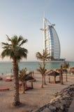 View over Burj Al Arab famous hotel, Dubai, UAE Royalty Free Stock Images