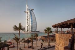 View over Burj Al Arab famous hotel, Dubai, UAE Royalty Free Stock Image