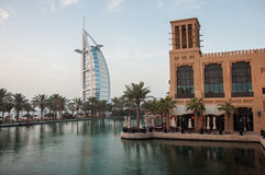 View over Burj Al Arab famous hotel, Dubai, UAE Stock Photo