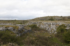 View over The Burren limestone karst landscape, County Clare Royalty Free Stock Photography