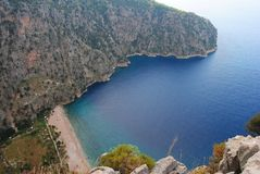 View over Butterfly Valley in Turkey. View over Butterfly Valley on the Mediterranean coast of Turkey Stock Images