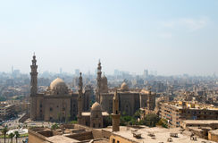 View over Cairo city with mosques Stock Image