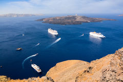 View over the caldera Royalty Free Stock Photography
