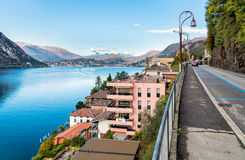 View over Campione D'Italia and Lake Lugano Royalty Free Stock Photo