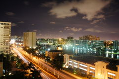 View over the canal at Hollywood beach Stock Photos