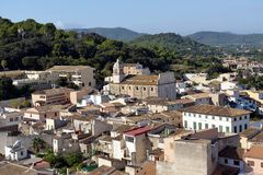 View over Capdepera Stock Image