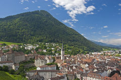 View over the Capital of Grisons Royalty Free Stock Image