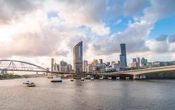 Brisbane city skyline view from Southbank royalty free stock images
