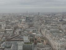 View over central London on a cloudy day stock photography