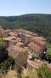 View over Chateaudouble. View over the rooftops of Chateaudouble, a pretty hilltop village in France Stock Images