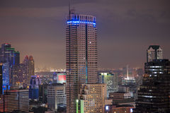 View over the city of bangkok at night Stock Photography