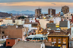 View over the city of Cartagena, Spain Royalty Free Stock Photo