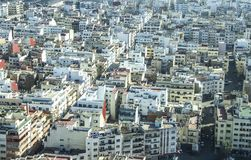 View over the city of Casablanca, Morocco. Panoramic view of white city in Marocco, Casablanca Royalty Free Stock Photo