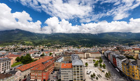 View over the city of Innsbruck, Austria Royalty Free Stock Photos