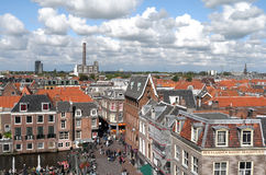 View over the city of Leiden. Royalty Free Stock Photos