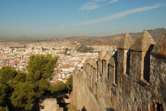View over the city of Malaga Royalty Free Stock Photos