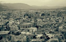 View over city Malaga in Spain Royalty Free Stock Photos