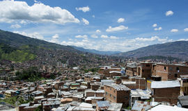 View over the city Medellin in Colombia Royalty Free Stock Photos