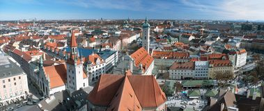 View over the city of Munich stock photo