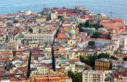 View over the city of Naples in Italy. Stock Image
