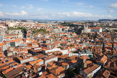 View Over City of Oporto in Portugal Stock Photography